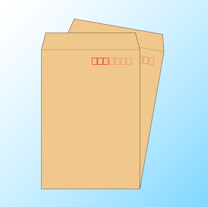 角20クラフト85/基本色1色印刷/〒枠あり・ヨコ貼りのみ/3500枚