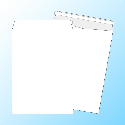 角2【テープ付】透けない(プライバシー保護)パステルホワイト100/DIC指定色1色印刷/〒枠なし(ヨコ貼りのみ)/3500枚