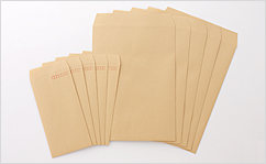 角3【テープ付】クラフト85/2色印刷【黒+基本色】/〒枠なし/4500枚
