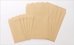 角2【テープ付】クラフト85/黒1色印刷/〒枠あり(ヨコ貼りのみ)/3000枚