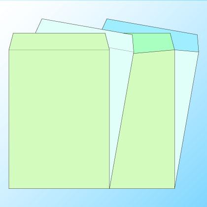 角2透けない(プライバシー保護)パステルナチュラルW100/基本色1色印刷/〒枠なし(ヨコ貼りのみ)/4000枚