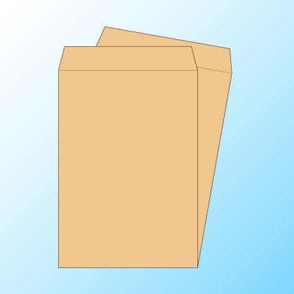 角20クラフト85/黒1色印刷/〒枠なし/500枚