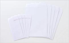 角2【テープ付】ケント100/2色印刷【黒+DIC指定色】/〒枠なし/4000枚