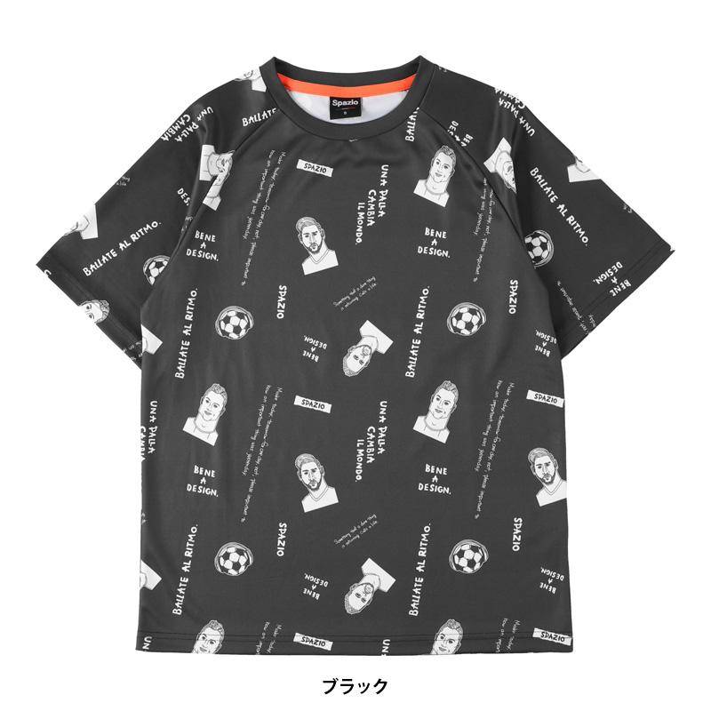 スパッツィオ/Spazio プラクティスシャツ/ナノファインレジェンド総柄プラシャツ【GE-0776】