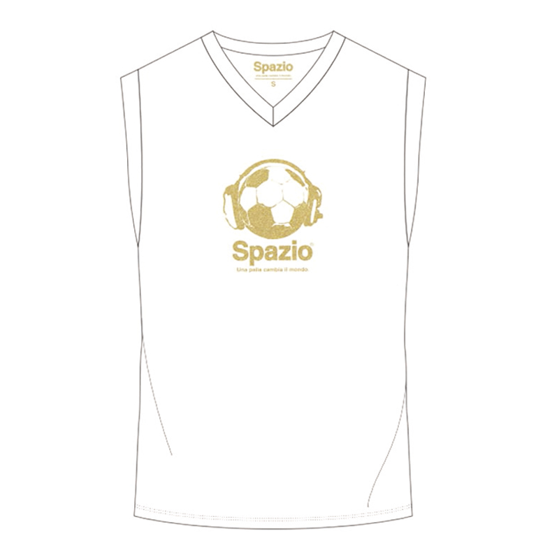 Spazio/スパッツィオ Ball-headphone nosleeve shirt/ノースリーブ【BC-0380】(限定商品)