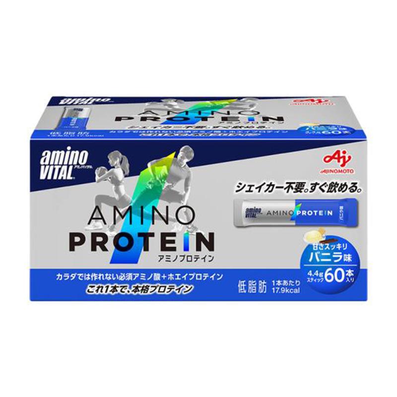 (取り寄せ)アミノバイタル/aminoVITAL アミノプロテイン(バニラ味)60本入【36JAM-83020】