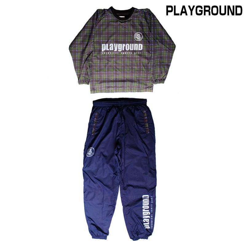 PLAYGROUND/プレイグラウンド チェックロングピステセットアップ 【PG0244】(送料無料)