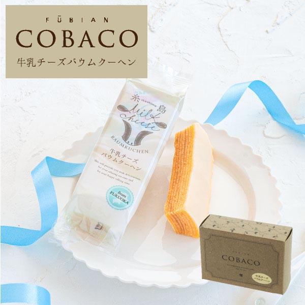 COBACO|糸島牛乳チーズバウムクーヘン 2個 即日発送 対応 プチギフト お礼  宅急便発送 Pgift