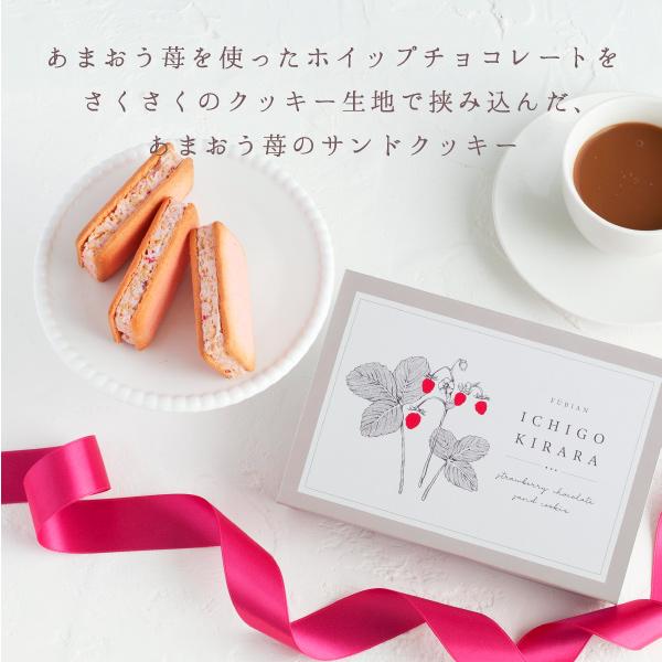 苺きらら 3個入  プチギフト ホイップチョコレートサンドクッキー (宅急便発送) Pgift