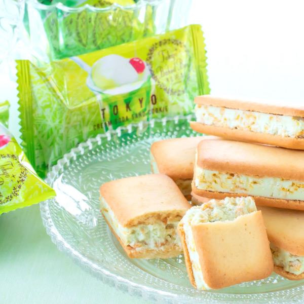 東京BakedBase|クリームソーダサンドクッキー 10個入<ベイクドベース 内祝 お土産 洋菓子 焼菓子>(宅急便発送) proper