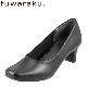 [フワラク] fuwaraku FR-1103 レディース | プレーンパンプス 黒 防水 | 静音 クッション性 | 就活 リクルート フォーマル | 大きいサイズ25.0cm 25.5cm | ブラック