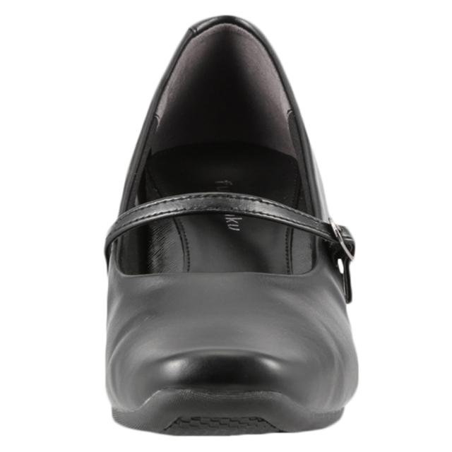[フワラク] fuwaraku FR-1104 レディース | ストラップパンプス 黒 防水 | 静音 クッション性 | 就活 リクルート フォーマル | 大きいサイズ25.0cm 25.5cm | ブラック