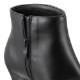 [フワラク] fuwaraku FR-1502 レディース | ショートブーツ レインブーツ 防水 | ヒール ポインテッドトゥ シンプル | 抗菌 防臭 歩きやすい 滑りにくい | 大きいサイズ対応 | ブラック