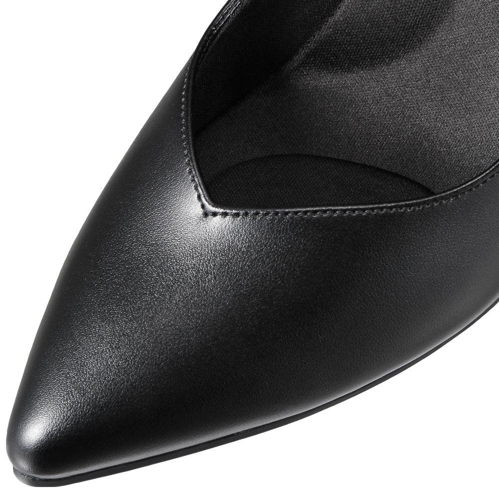 [フワラク] fuwaraku FR-1301 レディース|パンプス 黒|防水 消臭|防水 ウォータープルーフ|大きいサイズ対応 24.5cm 25.0cm 25.5cm|ブラック