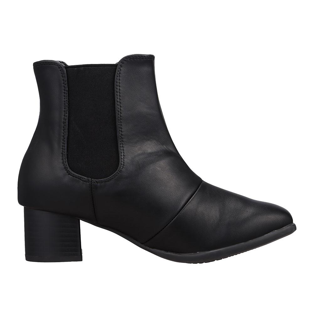 [フワラク] fuwaraku FR-1503 レディース | レイン・スノー | ブーツ サイドゴア | 防水 雨の日 | 小さいサイズ対応 大きいサイズ対応 | ブラック