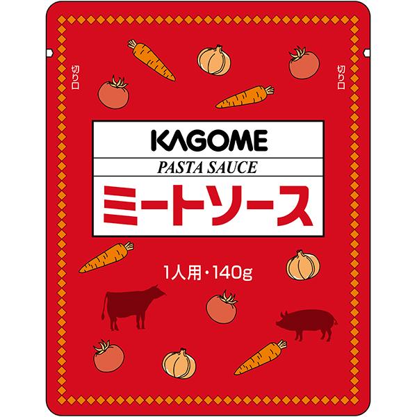 【常温】パスタソース ミートソース(N) 140G 10食入 (カゴメ/洋風ソース/パスタソース)