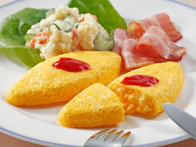 【冷凍】プレーンオムレツ 60G 5食入 (株式会社ニチレイフーズ/卵加工品/洋風卵)