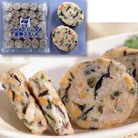 【冷凍】わかめとひじきの海鮮ステーキ 30G 50食入 (味の素冷凍食品/和風調理品/魚介練物)