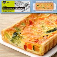 【冷凍】フリーカット7種の野菜のキッシュ 300G (株式会社フレック/洋風調理品/オードブル)