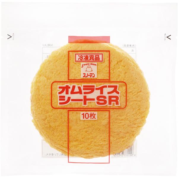 【冷凍】SMオムライスシートSR  10枚入 10食入 (キユーピー株式会社/卵加工品/洋風卵)