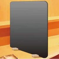 パーテーション灰色 1SET(本体+ベース黒2個) 450×H500