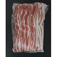 【冷凍】豚バラ2.5mmスライス 1KG (トウシンフード株式会社/豚肉/豚スライス)