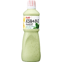【常温】バジル&チーズドレッシング 1L (キユーピー株式会社/ドレッシング/洋風)