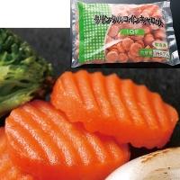 【冷凍】中国産 クリンクルコインキャロット (112〜150個入) 1KG (神栄株式会社/農産加工品【冷凍】/葉菜類)