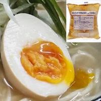 【冷蔵】やわらか半熟茹卵(醤油味K) 6個入 (キユーピー株式会社/卵加工品/和風卵)