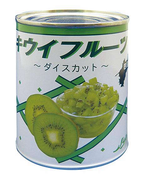 【常温】国産 キウイフルーツダイスカット(緑色) 2号缶 (ストー缶詰株式会社/農産缶詰)