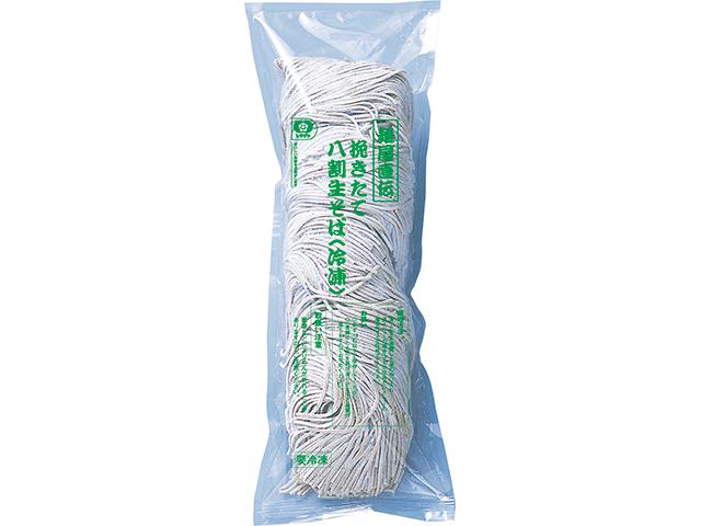 【冷凍】麺屋直伝 挽きたて八割生そば(冷凍) 130G 4食入