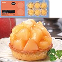 【冷凍】白桃のタルト 約90G 6食入 (株式会社フレック/冷凍ケーキ/タルト)
