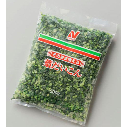 【冷凍】そのまま使える葉だいこん 500G (株式会社ニチレイフーズ/農産加工品【冷凍】/葉菜類)
