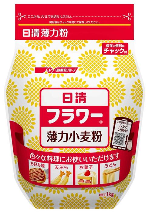 【常温】フラワー密封チャック付 小麦粉薄力粉 1KG