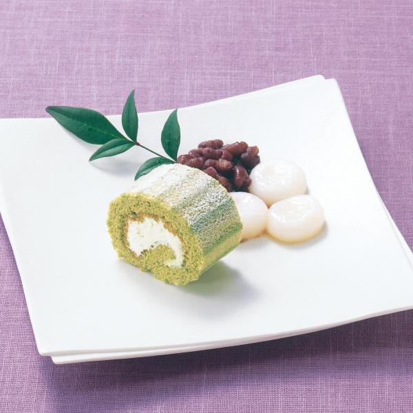 【冷凍】PSロールケーキ(宇治抹茶) 200G (テーブルマーク/冷凍ケーキ/フリーカットケーキ)