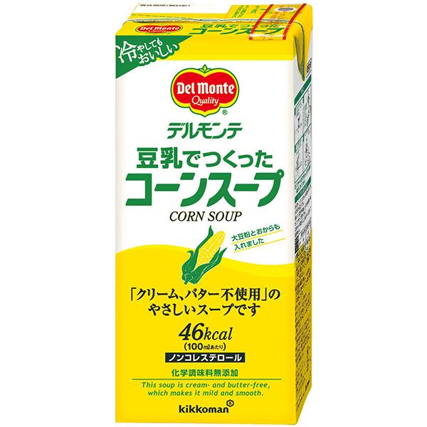 【常温】豆乳で作ったコーンスープ 1000ML (デルモンテ/洋風スープ)