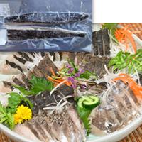 【冷凍】刺身用炙り本サワラ(真空) 1KG (/魚/柵)