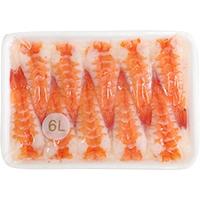 【冷凍】バナメイ活ボイル頭肉付寿司海老 6L (約9.5〜10cm) 20枚 (/えび)