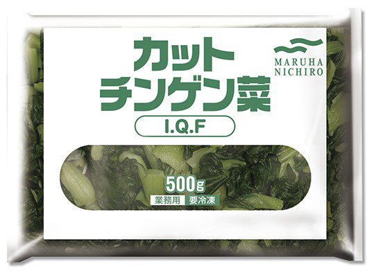 【冷凍】カット青梗菜 IQF  500G