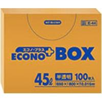 E-44 エコノプラスBOX半透明 0.015mm  45L