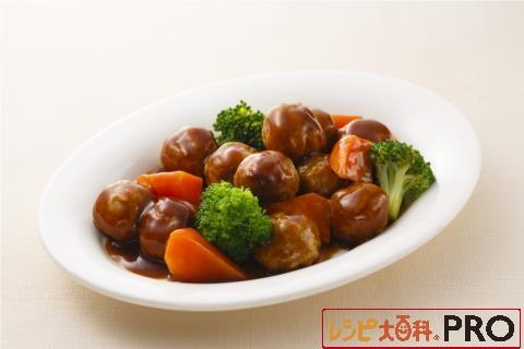 【常温・冷凍】レシピ/ミートボールのデミグラスソース煮込み