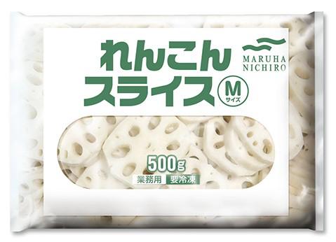 【冷凍】レンコンスライスM  500G (マルハニチロ/農産加工品【冷凍】/根菜類)