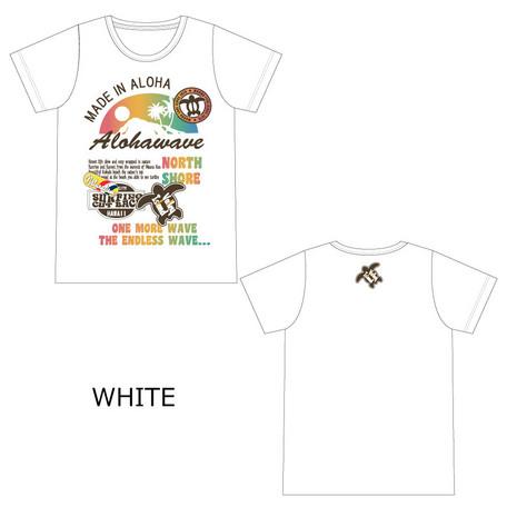 【値下げ】 アロハ柄Tシャツ ホヌ&レインボー レディース
