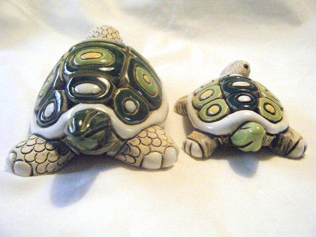 アーテサニア・リンコナダ・コレクション カメ(白)、子カメ