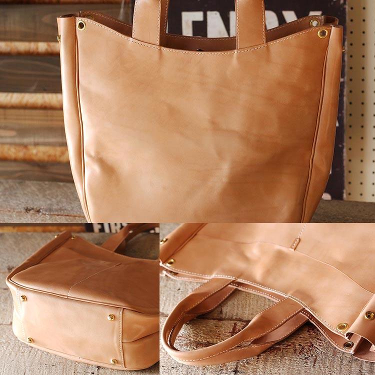 ヌメ革 トートバッグ メンズ 手縫い 栃木レザー オーダーメイド 手作りの本革バッグ