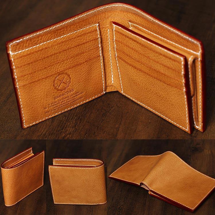 革財布 メンズ 二つ折り ショートウォレット エルバマット 手縫い ハンドメイド TEMPESTI ELBAMATT