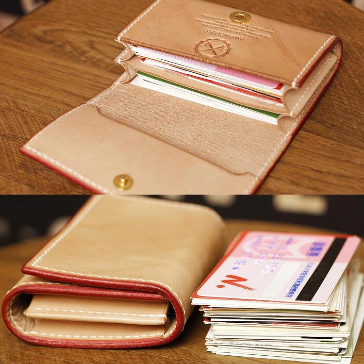 ヌメ革 カードケース メンズ 手縫い 栃木レザー オーダーメイドのカード入れ