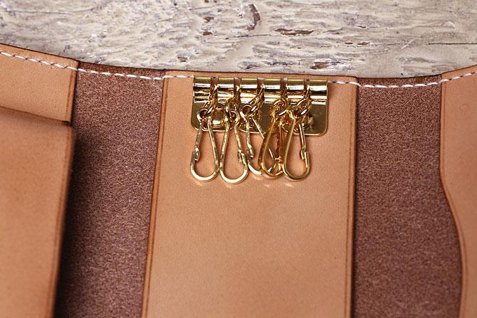 ヌメ革 キーケース メンズ スマートキー収納タイプ 手縫い 栃木レザー