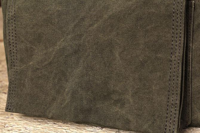 小振りな かぶせショルダーバッグ 備長炭染め帆布(ハンプ) バギーポート baggy port kon 2060