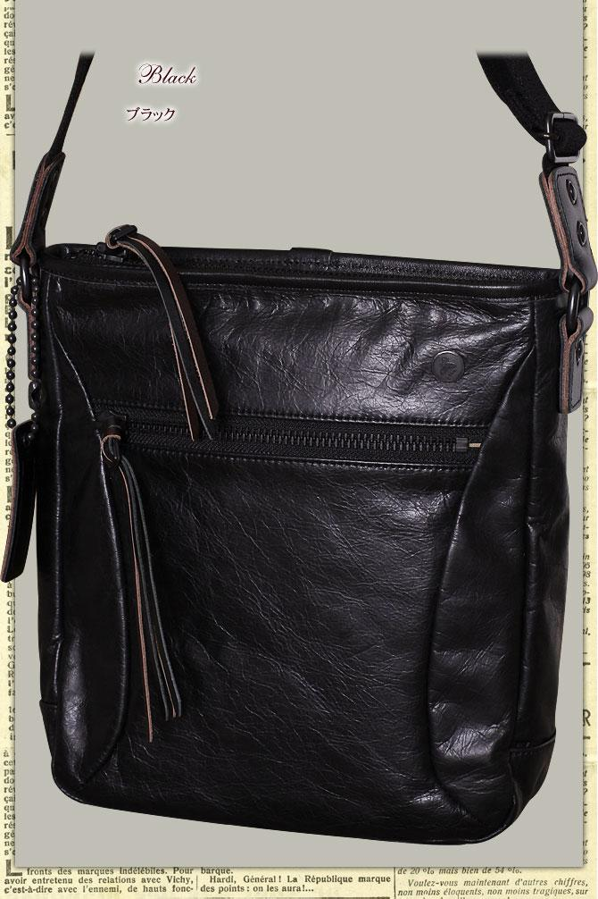 ラ・ガレリア ジンガロ 牛革ワックスアンティーク薄マチ縦型 ショルダーバッグ 2923  青木鞄 la Galleria Zingaro シンプルなB5サイズ メンズ ショルダー